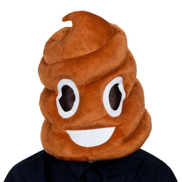 Adults Poop Mascot Head Mask for Emoji Social Media Facebook Iphone Fancy Dress